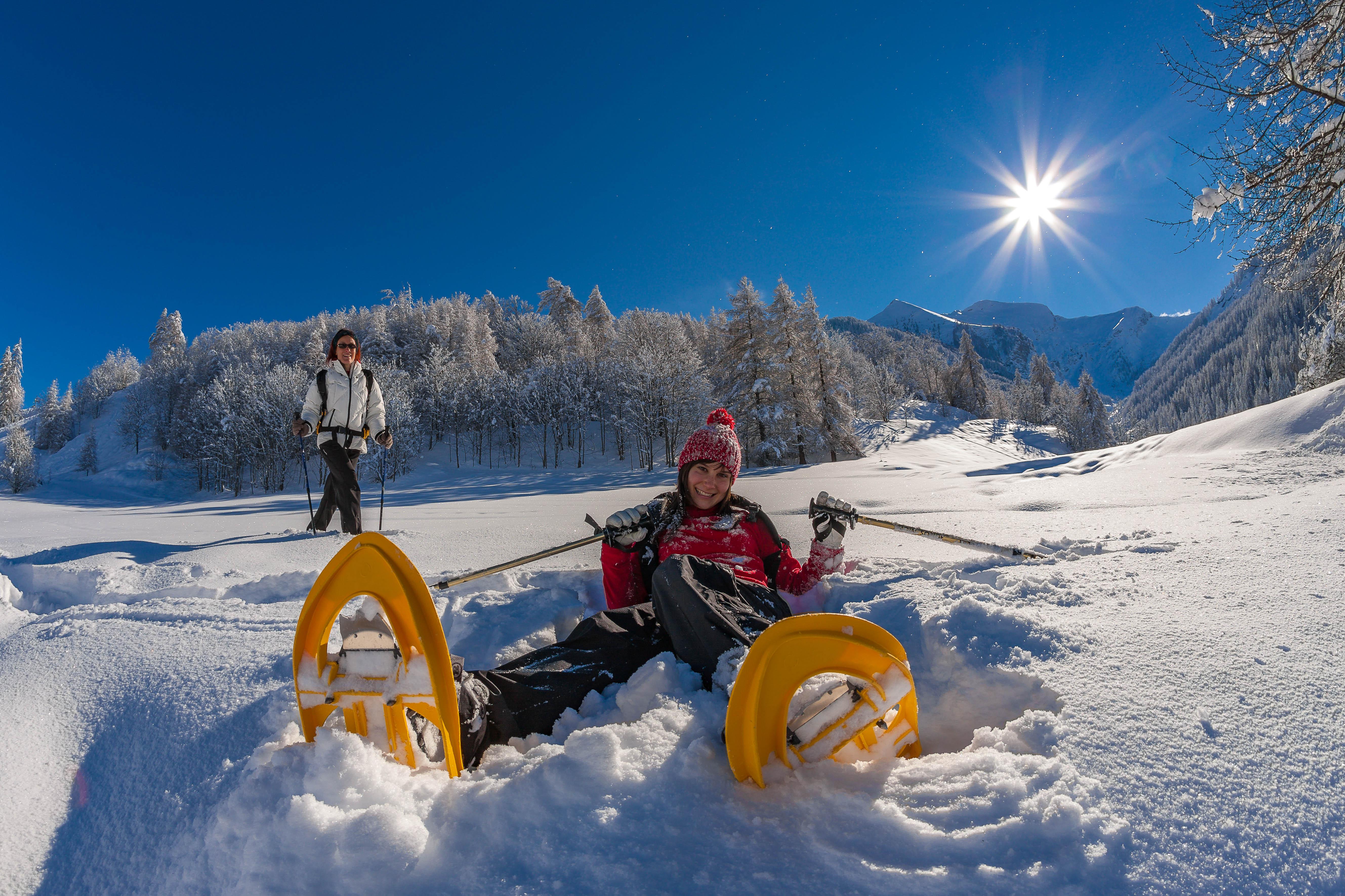 Snowshoeing near Chalet Carpe Diem